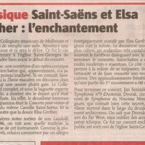 Belle critique dans l'Alsace, Concerto n°3 deSaint-Saëns